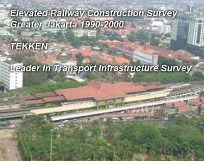 Elevated Railway Construction Survey Greater Jakarta 1990-2000