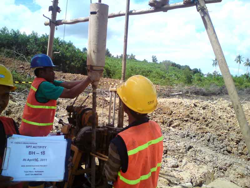 Survey And Geotech Investigation for PLTU Kaltim 2×100 MW Balikpapan 2011
